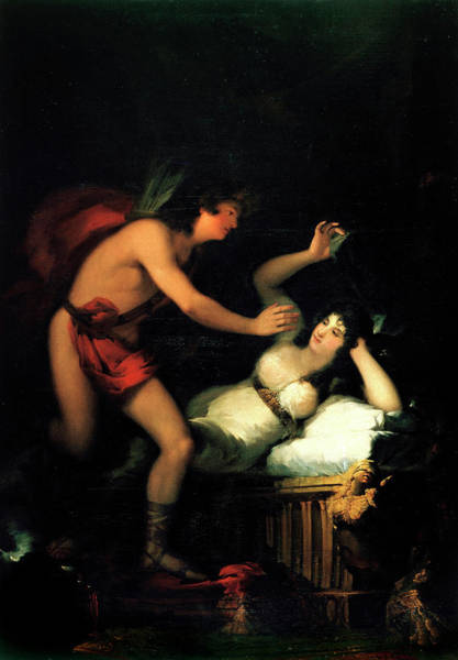 Goddess Of Love Wall Art - Painting - Allegory Of Love, Cupid And Psyche by Francisco Goya