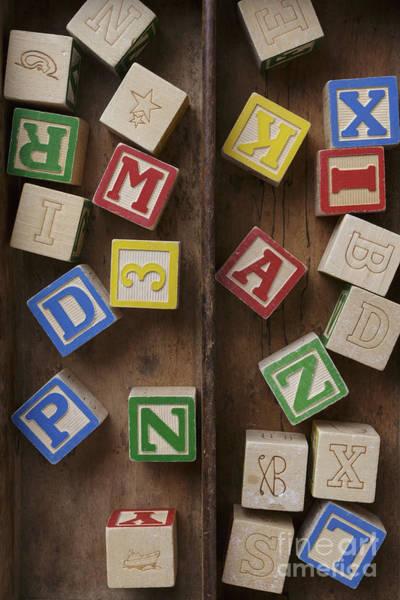 Wall Art - Photograph - Alphabet Blocks by Edward Fielding
