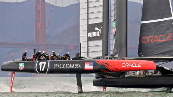 Photograph - America's Cup Oracle 2013 by Steven Lapkin