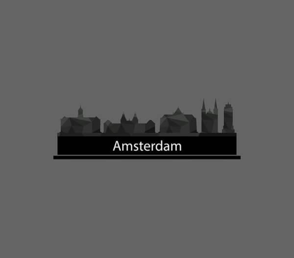 Beautiful Digital Art - Amsterdam Skyline by Marco Livolsi