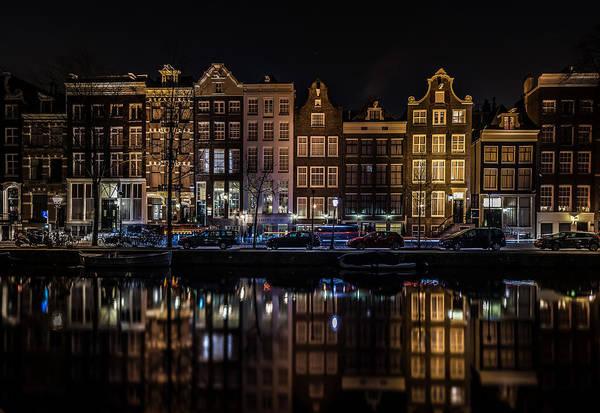 Skyline Digital Art - Amsterdam by Super Lovely
