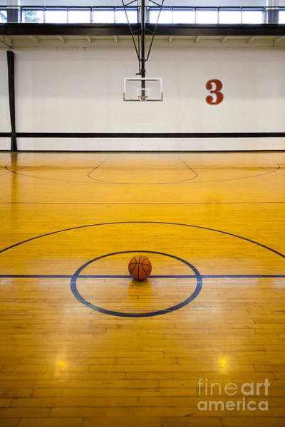 Wall Art - Photograph - An Indoor Sports Venue. Basketball by Christian Scully