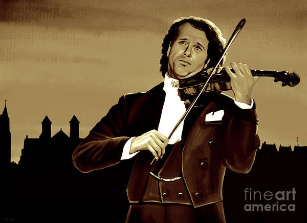 Violinist Wall Art - Mixed Media - Andre Rieu by Meijering Manupix