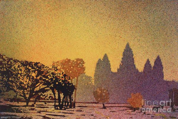 Wall Art - Painting - Angkor Sunrise by Ryan Fox