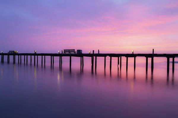 Photograph - Anna Maria City Pier , Anna Maria Island Sunrise  by Paul Schultz