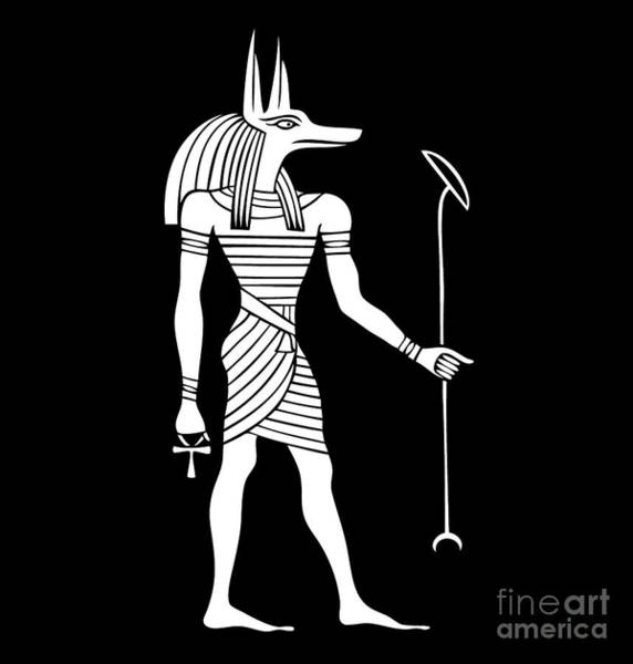Wall Art - Digital Art - Anubis - God Of Ancient Egypt by Michal Boubin