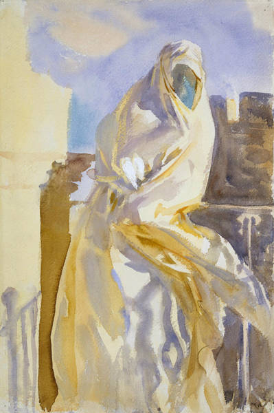 Drawing - Arab Woman by John Singer Sargent