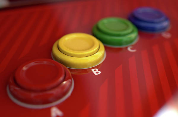 Controller Digital Art - Arcade Control Panel  by Allan Swart