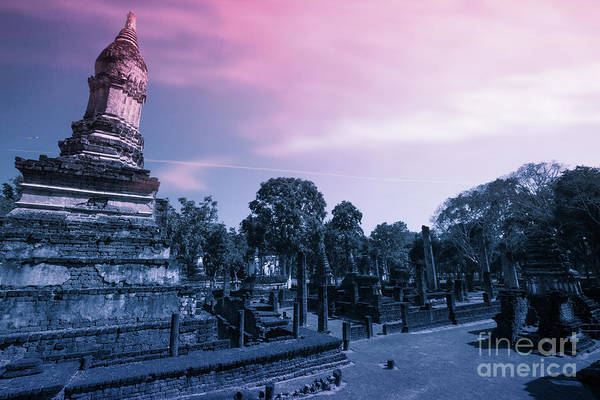 Ancient Architecture Digital Art - Artistic Of Chedi by Atiketta Sangasaeng