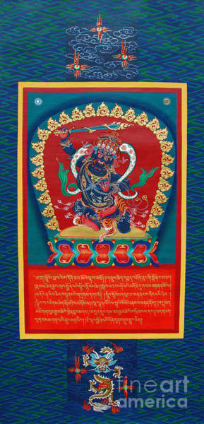 Dzogchen Painting - Arya Achala - Immovable One by Sergey Noskov