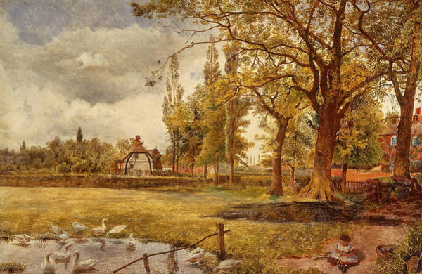 Painting - At Hale, Lancashire by William Davis