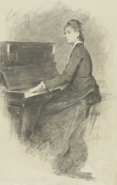 Drawing - At The Piano by Theodore Robinson