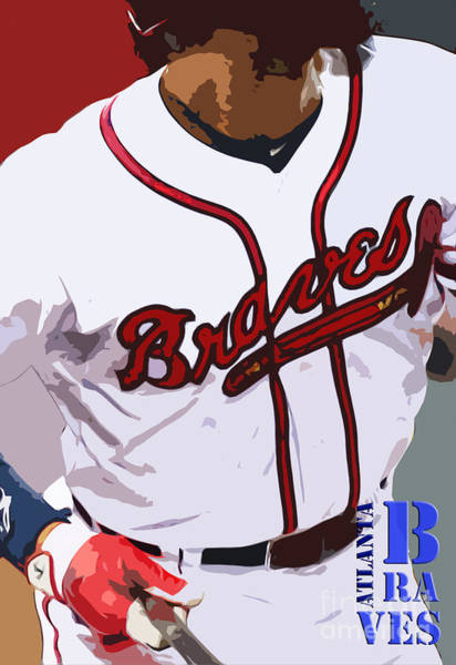Braves Painting - Atlanta Braves Original Typography Baseball Team by Drawspots Illustrations