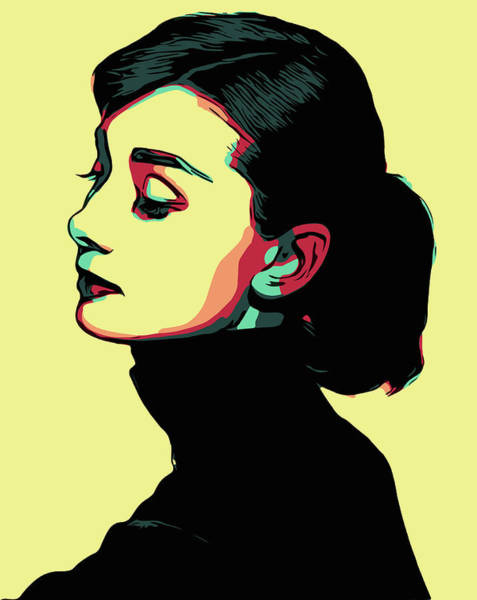 Wall Art - Digital Art - Audrey Hepburn by Zapista Zapista