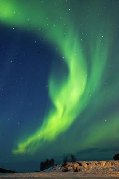 Photograph - Aurora Above Frozen Lake Inari Finland by Adam Rainoff