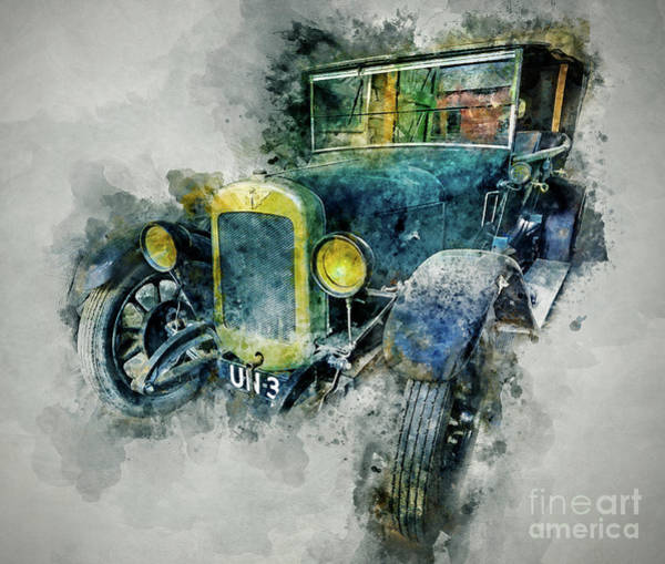 American Car Mixed Media - Austin Seven by Ian Mitchell