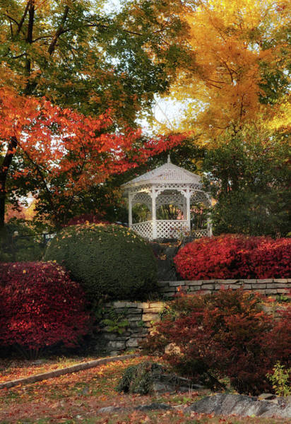 Photograph - Autumn Gazebo by Jessica Jenney