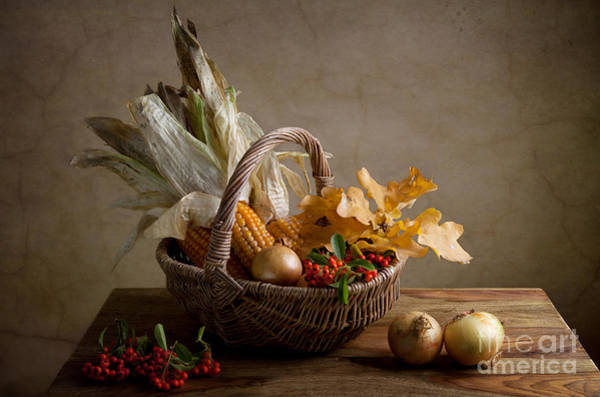 Basket Painting - Autumn by Nailia Schwarz