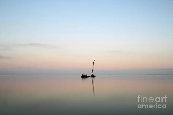Photograph - Ayrshire Shipwreck In Sunrise by Maria Gaellman