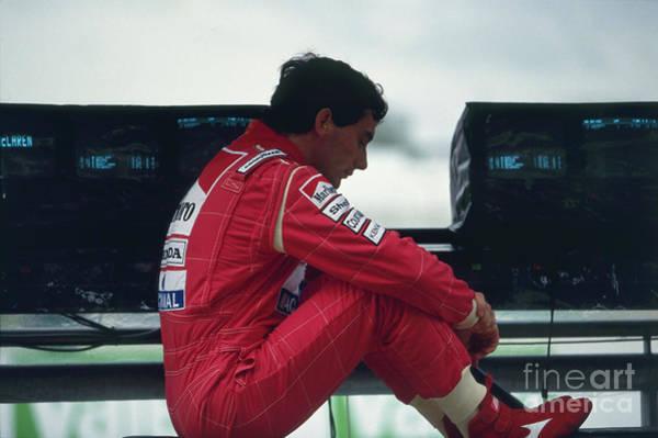 Racing Shell Photograph - Ayrton Senna. 1992 French Grand Prix by Oleg Konin