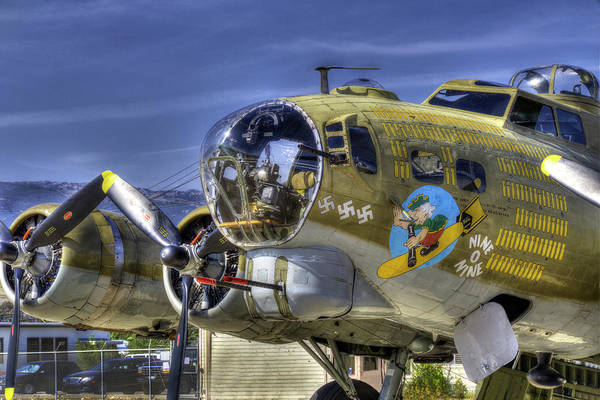B-17 Bomber Photograph - B-17 by Joe  Palermo