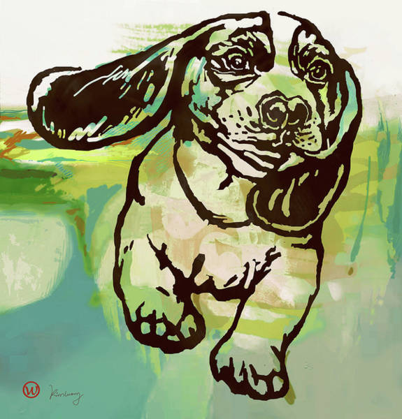 Wall Art - Mixed Media -  Baby Dog -  Pop Art Poster by Kim Wang