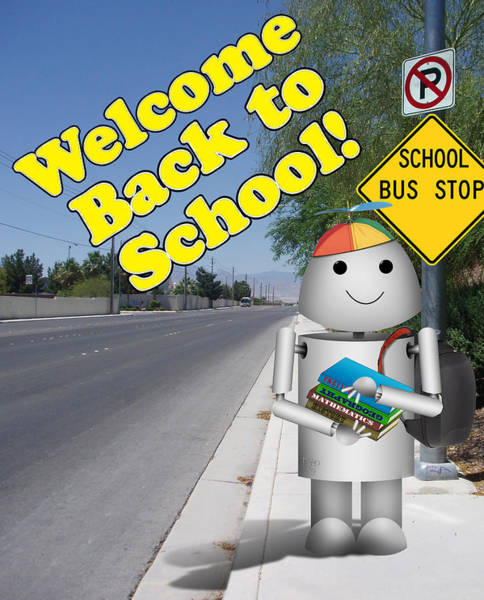 Back-to-school Digital Art - Back To School Little Robox9 by Gravityx9 Designs