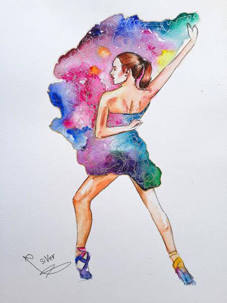 Wall Art - Painting - Ballet Dance by Siver Serwer