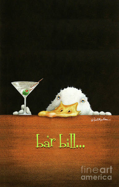 Wall Art - Painting - Bar Bill... by Will Bullas