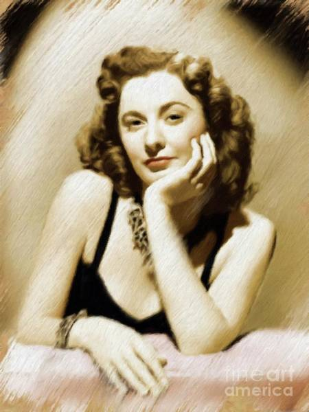 Pinewood Painting - Barbara Stanwyck, Vintage Actress by Mary Bassett