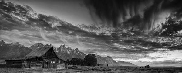 Teton Mountain Range Photograph - Barn In The Mountains by Andrew Soundarajan