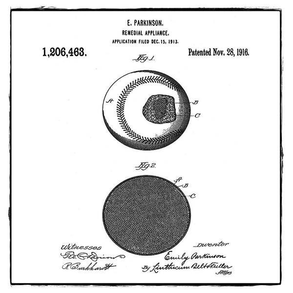 Wall Art - Photograph - Baseball Patent 1916 Sepia by Bill Cannon