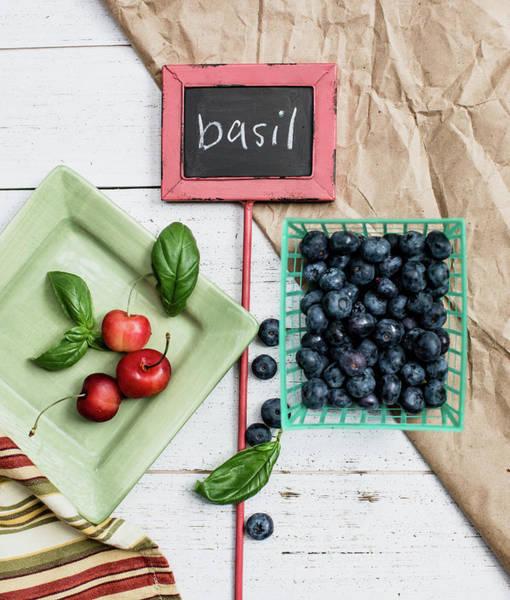 Herbs Photograph - Basil Still Life #2 by Rebecca Cozart