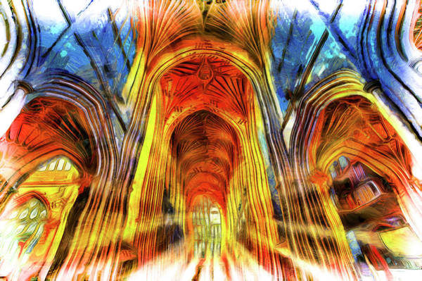 Wall Art - Photograph - Bath Abbey Sun Rays Art by David Pyatt