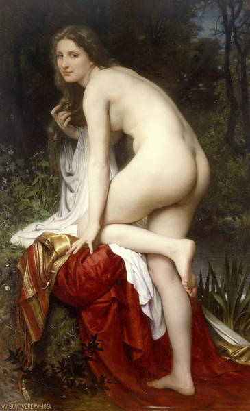 Painting - Bather by William-Adolphe Bouguereau