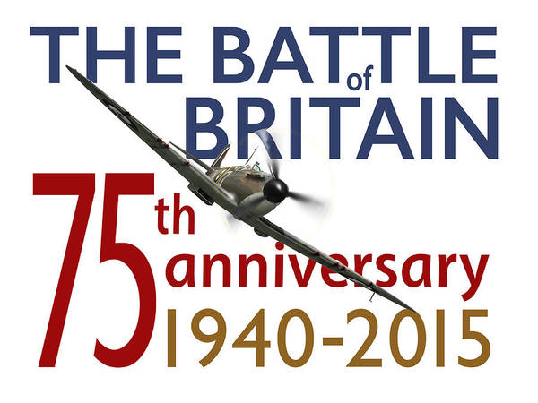 Digital Art - Battle Of Britain 75th Anniversary Poster by Gary Eason