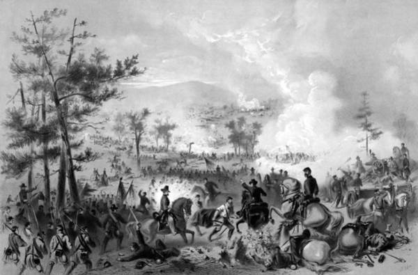 Wall Art - Drawing - Battle Of Gettysburg by War Is Hell Store