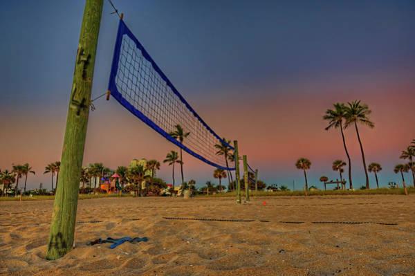 Wall Art - Photograph - Beach Volleyball Court Sunrise by Craig Fildes