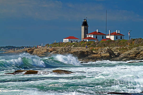 Wall Art - Photograph - Beavertail Lighthouse by Jim Beckwith