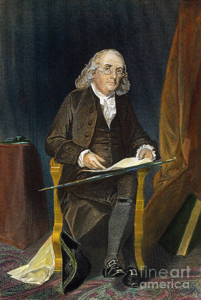 Photograph - Benjamin Franklin by Granger