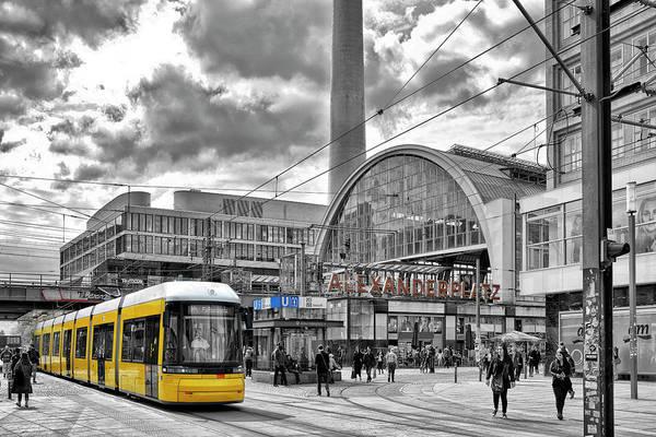 Trolley Car Wall Art - Photograph - Berlin Alexanderplatz by Joachim G Pinkawa