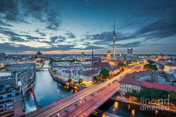 Fernsehturm Photograph - Berlin City Lights by JR Photography