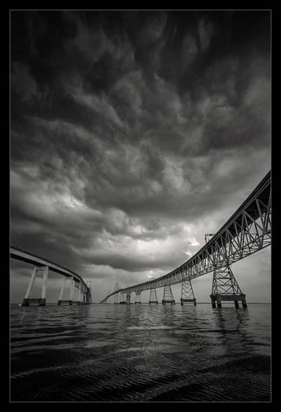 Maryland Photograph - Between The Bridge by Robert Fawcett