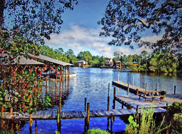 Southern Charm Painting - Big Daddy's Harbor by Michael Thomas