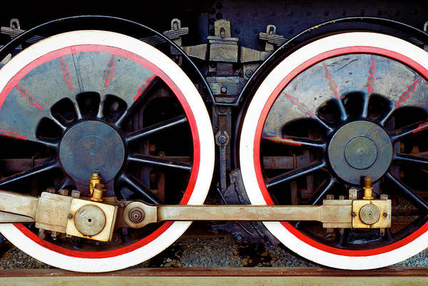 Wall Art - Photograph - 2 Big Drive Wheels by Paul W Faust - Impressions of Light