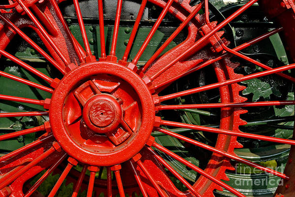 Photograph - Big Red Wheel by Paul W Faust -  Impressions of Light