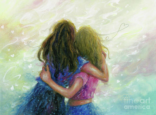 Wall Art - Painting - Big Sister Hug by Vickie Wade