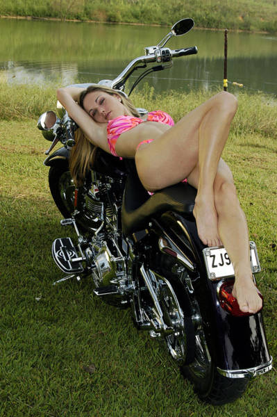 Photograph - Bikes And Babes by Clayton Bruster
