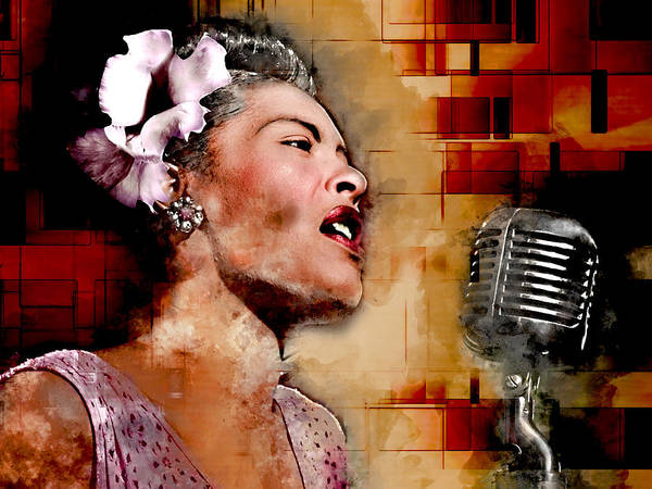 Wall Art - Mixed Media - Billie Holiday by Marvin Blaine