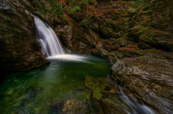Smugglers Notch Photograph - Bingham Falls by Mike Horvath